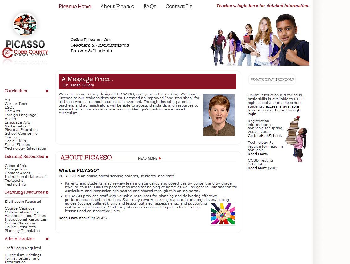 PICASSO Portal, Cobb County Schools