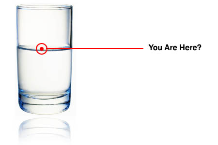 Glass Half Full Or Half Empty?